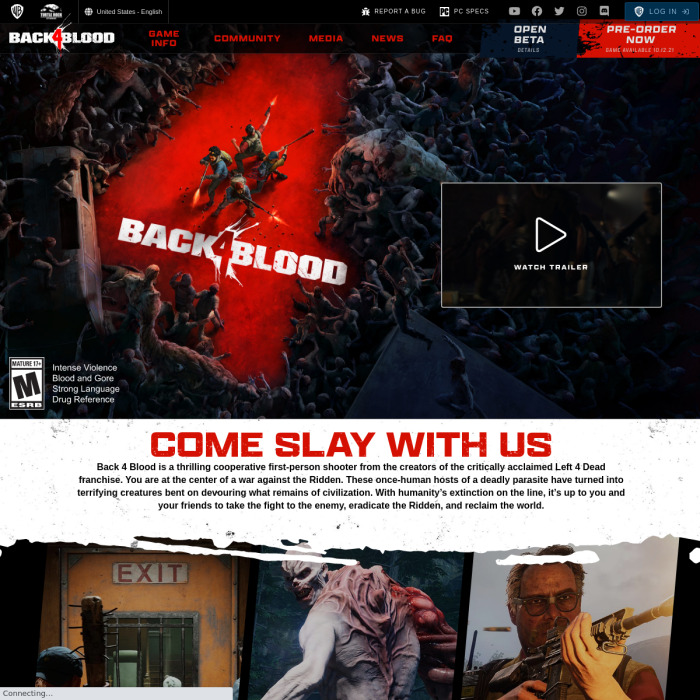Back 4 Blood Player Count