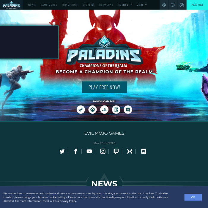 Paladins Player Count