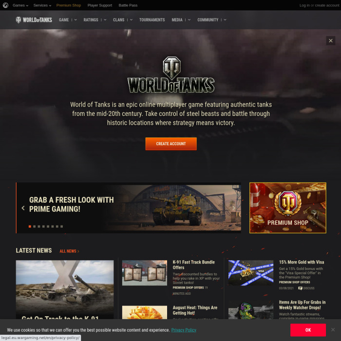 World of Tanks Player Count